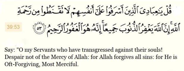 Al Quran - Surah Az-Zumar(39 V53 - Copy