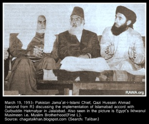 Qazi Hussain Ahmed Gulbadin Hikmatyar and Ikhwani Egyptian - Copy
