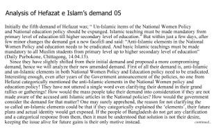 Hifazat demand 05 page 01 English