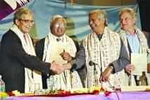 Amarta Sen, Sir Fazle Hussain Abed, Prof Yunus and Soros