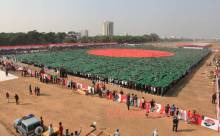 Largest Human Flag Bangladesh