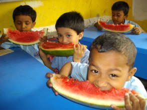 Kids with Water Melon