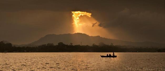 The Light of God on Kaptai Lake