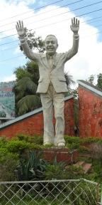 Ziaur Rahman's statue at the gates of Khagrachori