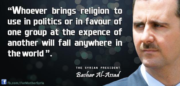 bashar_al_assad on religion and politics