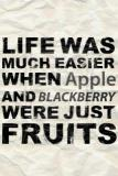 Against and blackberry