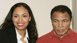 Hana Ali with her father Muhammad Ali