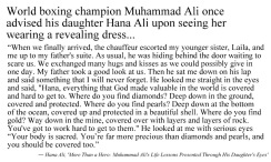 Muhmmad Ali's advice to his daughter (2)