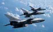 F-7 formation BAF  with hot guns