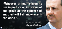 bashar_al_assad on religion and politics