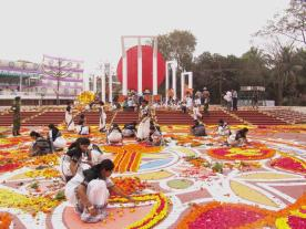 Festivities at shaheed Minar