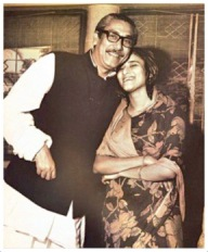 Hasina with Bangabandhu - Copy