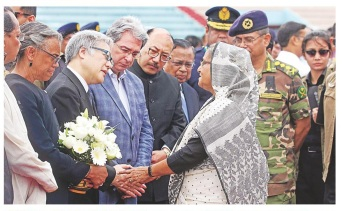 Sheikh Hasina condoles the dead - edited