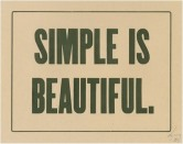 simple is beautiful 01